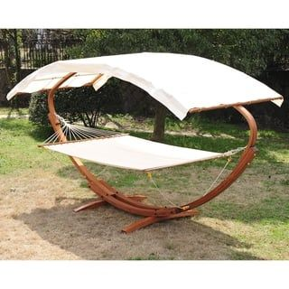 Outsunny 13 Wood Roman Arc Double Outdoor 2 Person