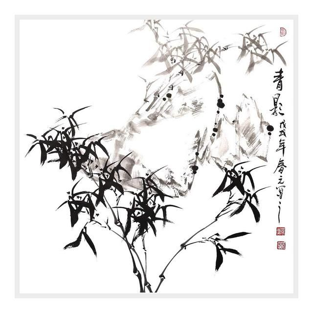 Decorazione Murale Bamboo Wall Art Cinese Pittura a ...