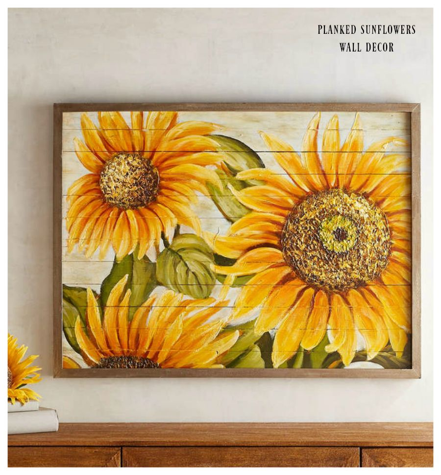 I love sunflowers! Maybe for the kitchen! Pier 1 Imports Planked ...