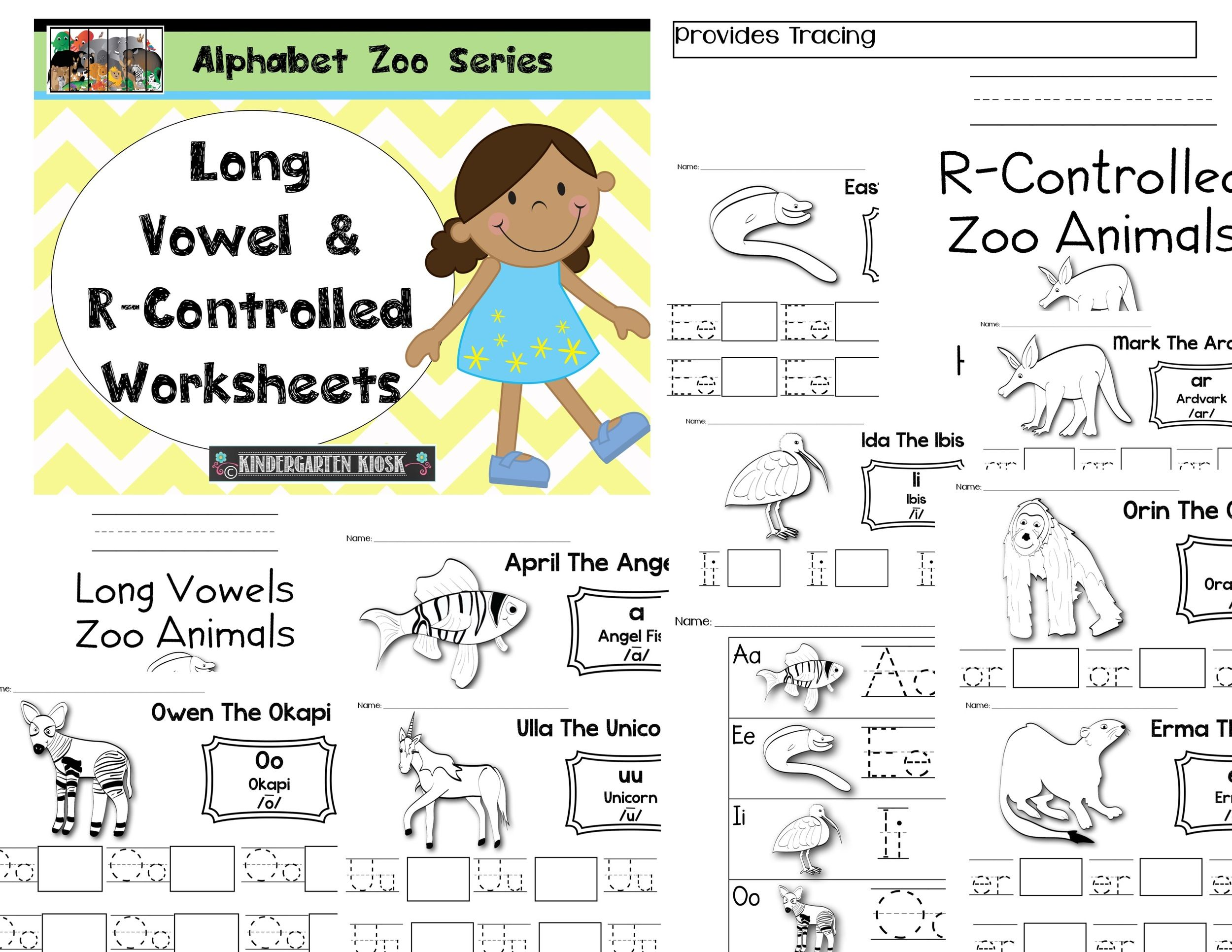 worksheet R Controlled Worksheets zoo long vowelr controlled handwriting worksheets alphabet worksheets