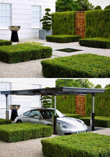 underground garage garden by flemons warland design - Garden Ideas 2015