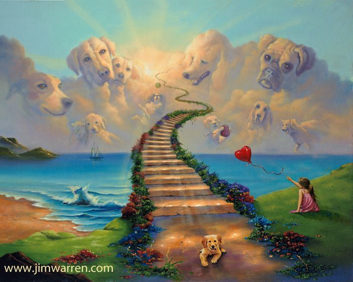 All Dogs Go To Heaven Dog Heaven Rainbow Bridge Fine Art