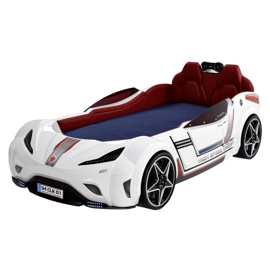 Meet Carrera White The Ultimate Race Car Bed In Glossy White