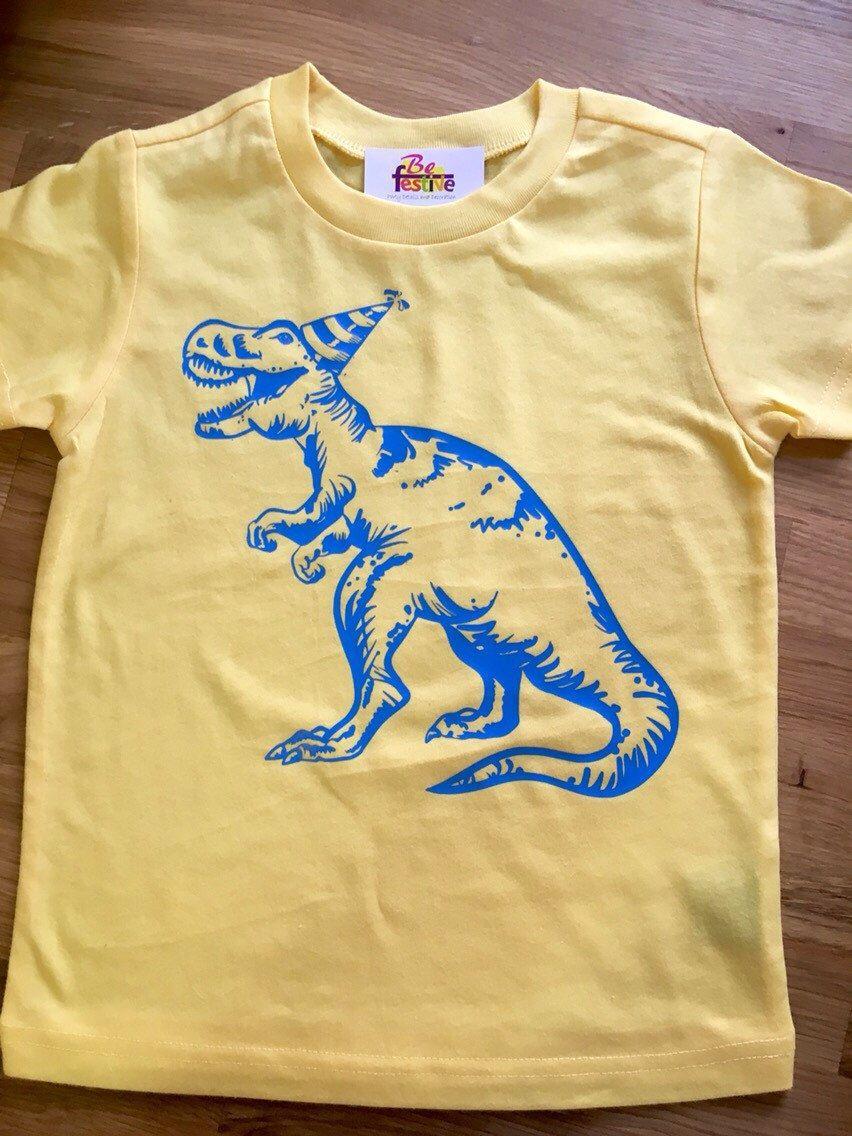 12299cd3 Dinosaur birthday shirt, T-Rex birthday shirt, Boys Birthday Shirt, dinosaur  party