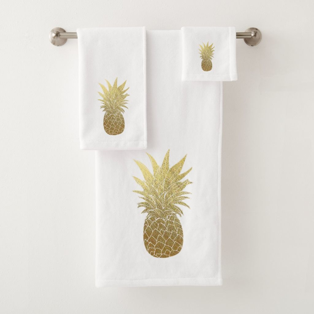 pineappledecor in 9  Bathroom towels, Towel set, Bathroom themes