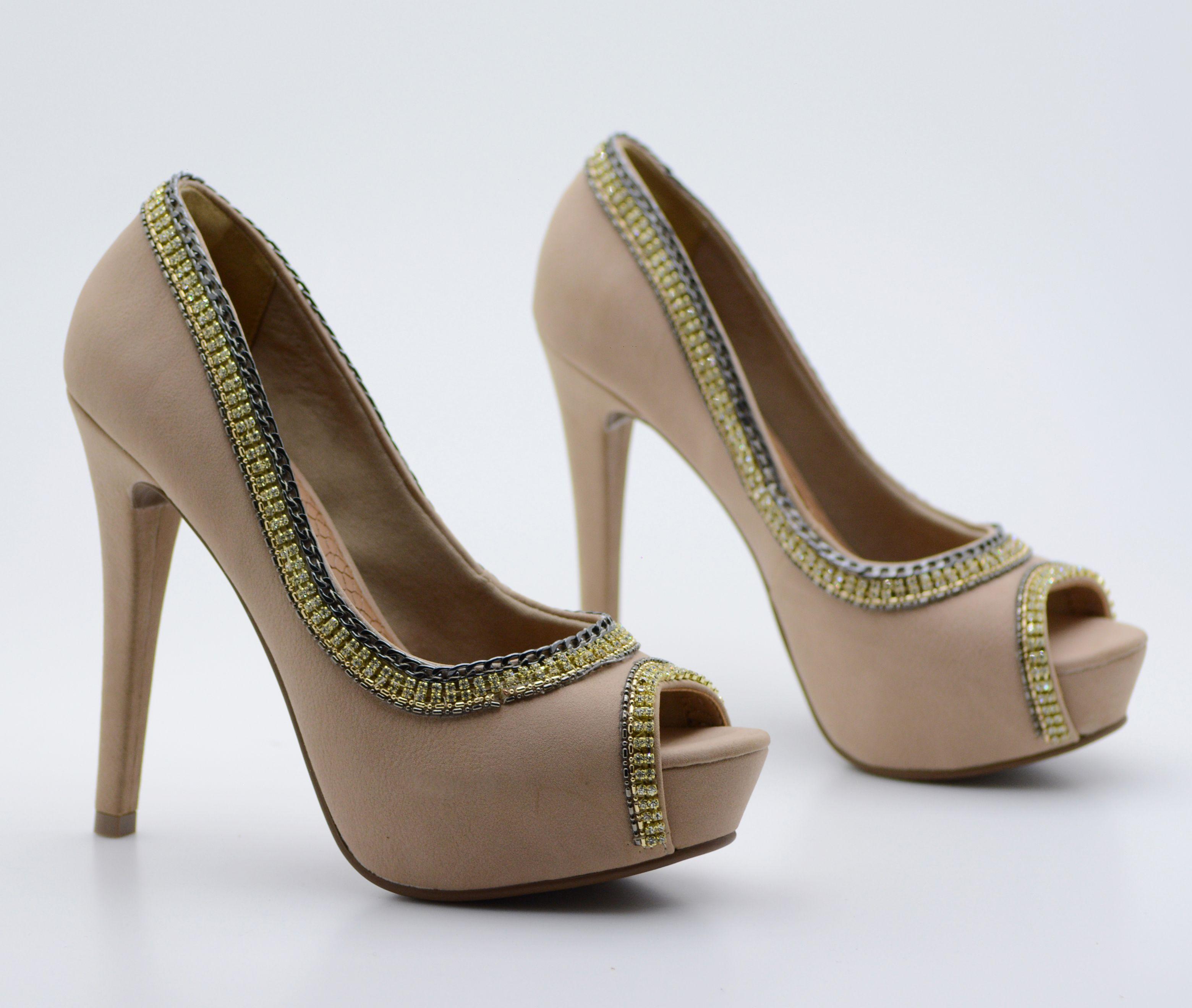 f7d82e8334 peep toe preto - salto alto - high heels - dourado - party shoes - nude -  Verão 2016 - Ref. 15-14604