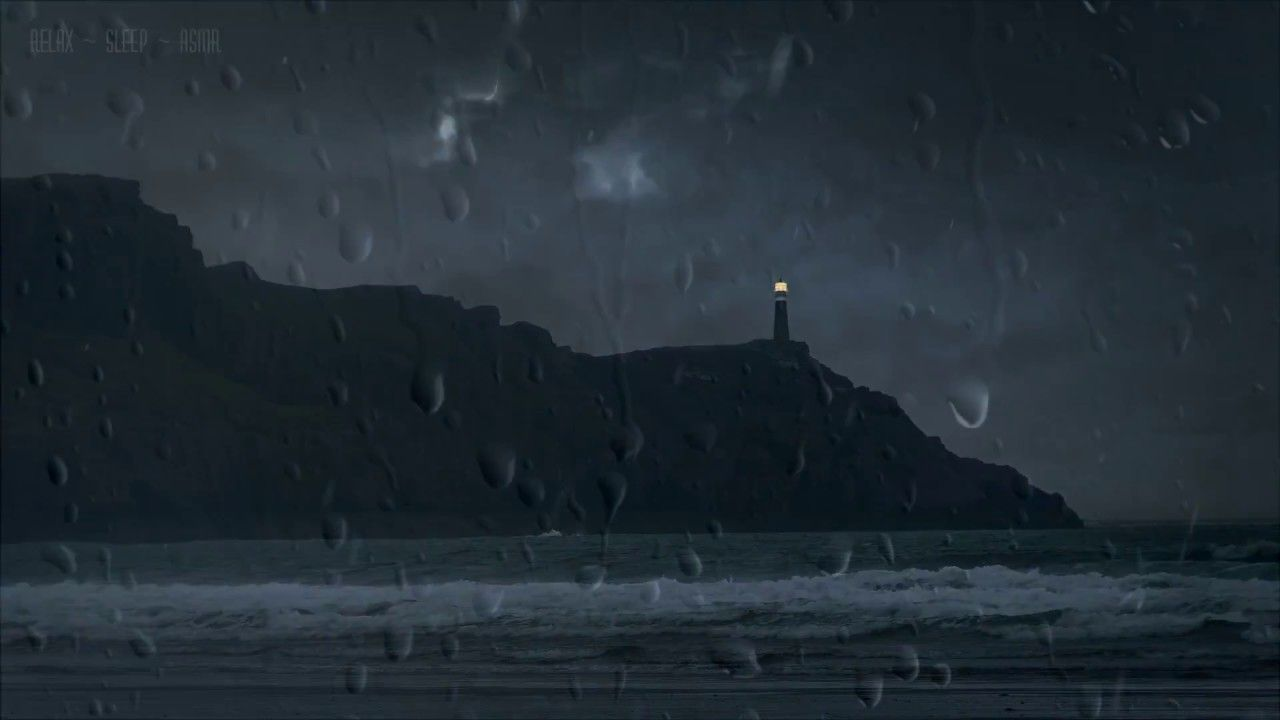 Ocean Storm With Relaxing Rain On Window And Tin Roof Waves Wind And T Ocean Storm Rain Window Nature Gif
