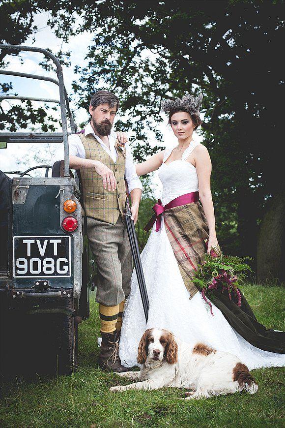 Tweed Country Styled Bridal Shoot At Owen House Wedding Barn C Mr Mrs W 4 Mens Suit Dress Flowers Boho Rustic Gun