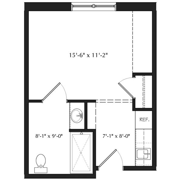 Efficiency Apartment Floor Plan living in an efficiency apartment - google search. a basic layout