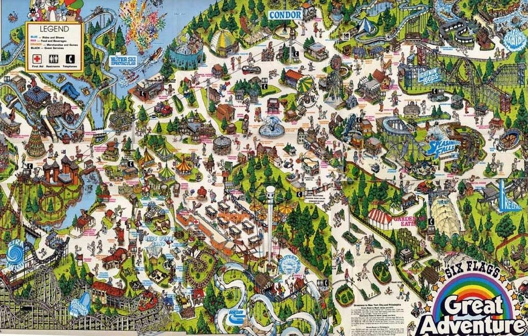 Pin By Dedric Dukes On My Adventures Six Flags Great Adventure Theme Park Map Six Flags
