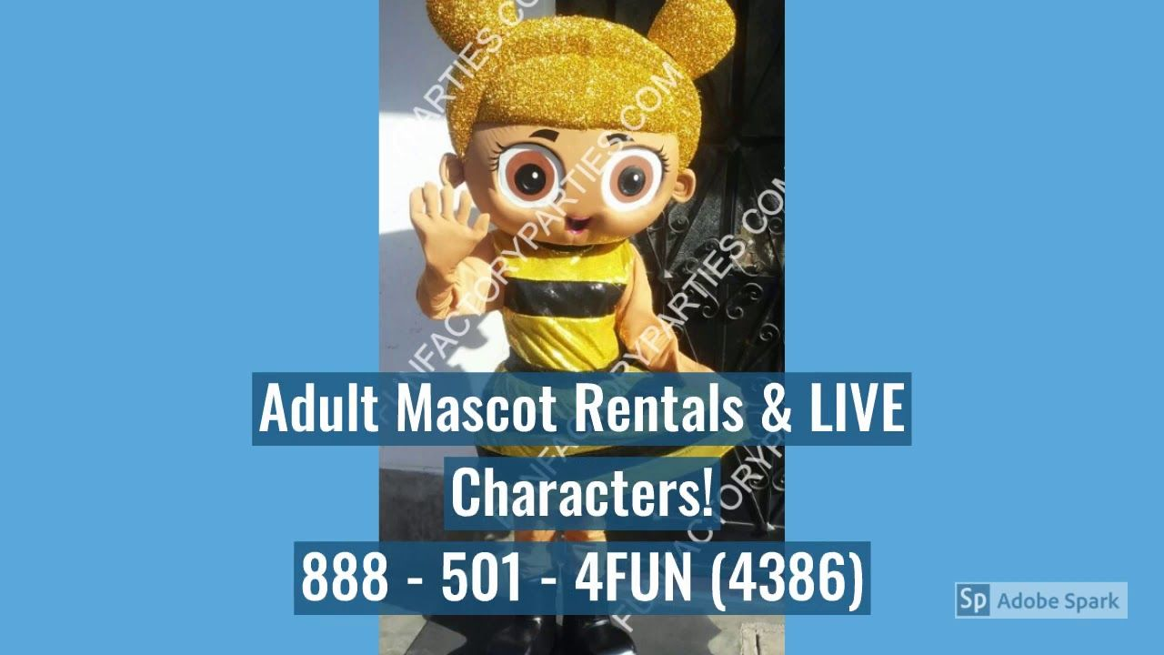 Lol Surprise Dolls Mascot Costume Character Rentals Lol Dolls Birthday Party Characters Lol Dolls Character Costumes