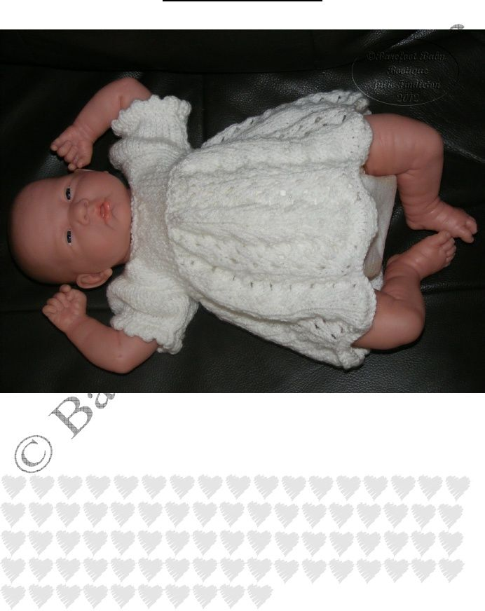 Dress Knitting Pattern For Small Reborns Or Baby Dolls Scribd