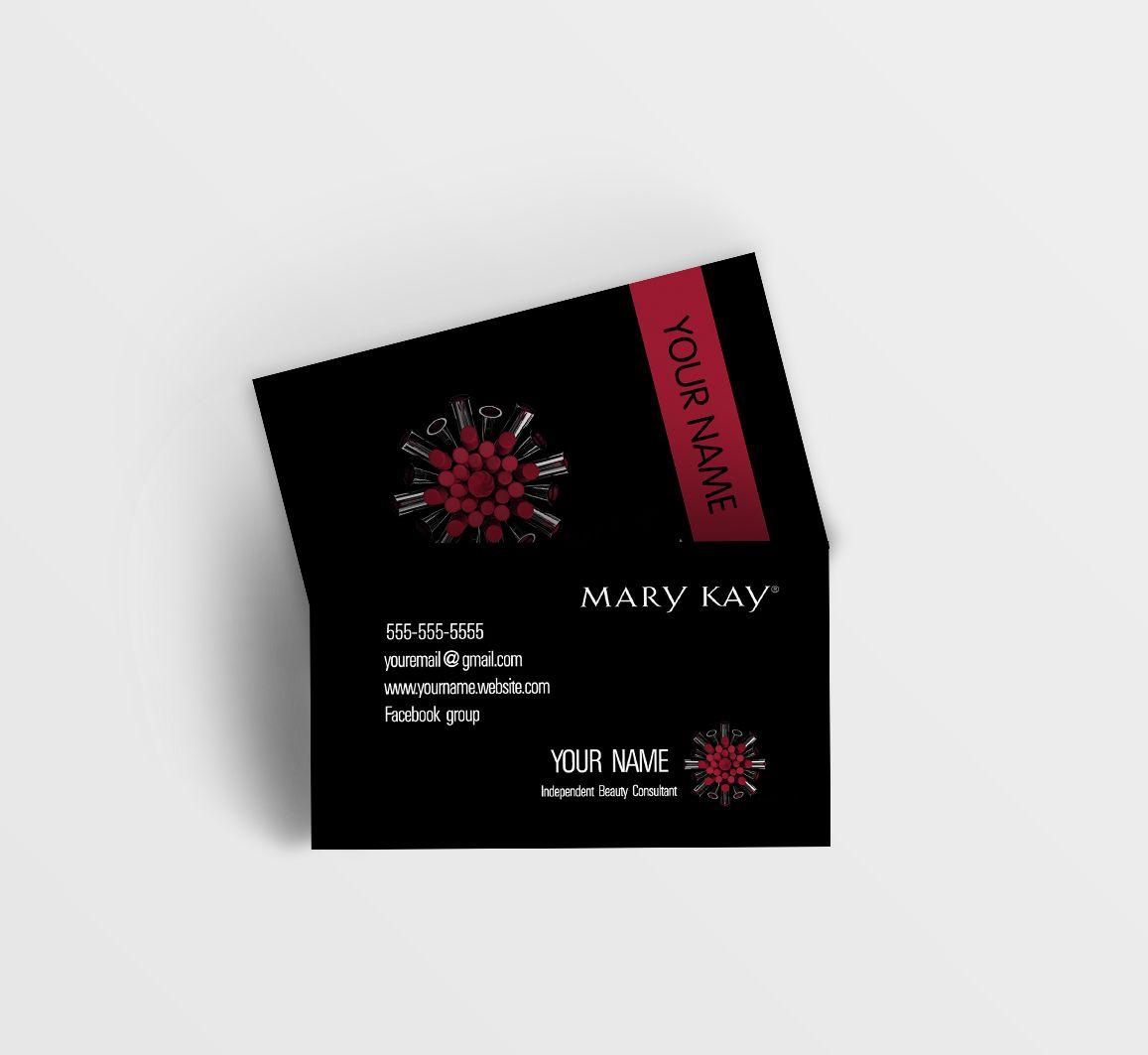 Mary Kay Business Card - Black   Mary Kay   Pinterest   Mary kay ...