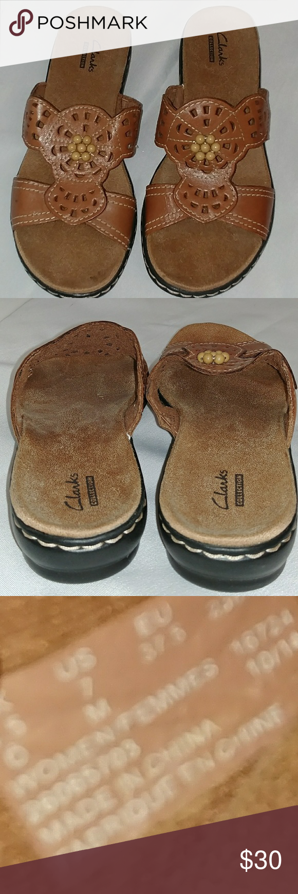 Clark S Collection Sandals Women S Clark Collection Sandals Size 7 Good Condition Clarks Shoes Sandals Womens Sandals Clarks Shoes Sandals