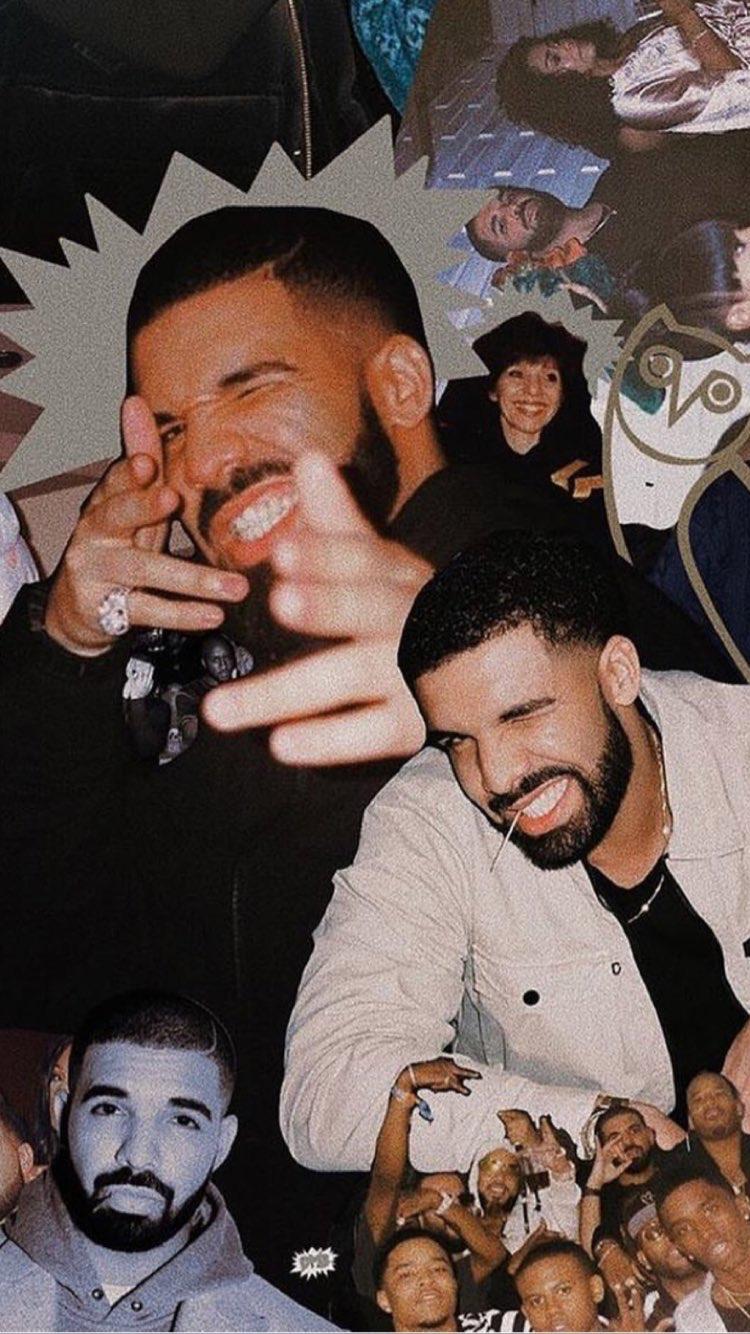 Drake collages drake in 2019 drake drizzy drake - Drake collage wallpaper ...