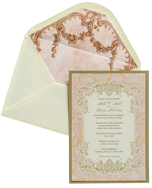 Wedding Invitations Romance In Venice