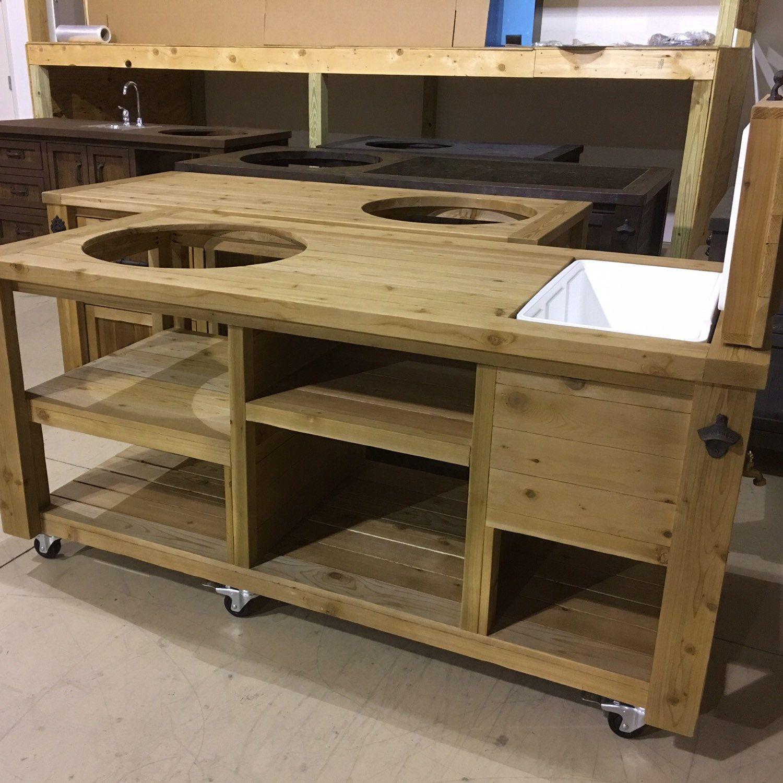New Bare Bones grill tables for Big Green Egg kamado Joe and Primo