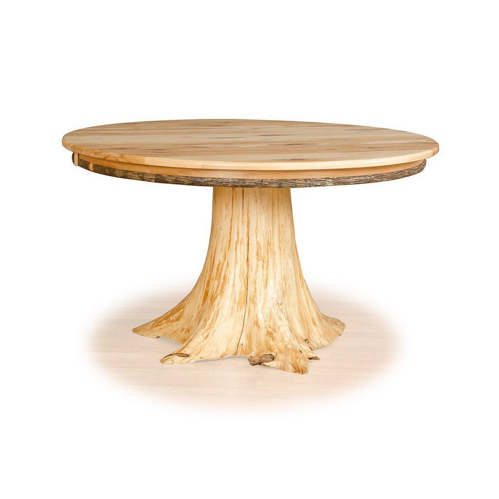 Custom Hickory White Cedar Stump Dining Table Tan Dining Table Rustic Furniture Table