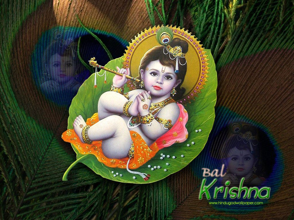 Krishna Bal Roop Wallpaper For Desktop Free Download