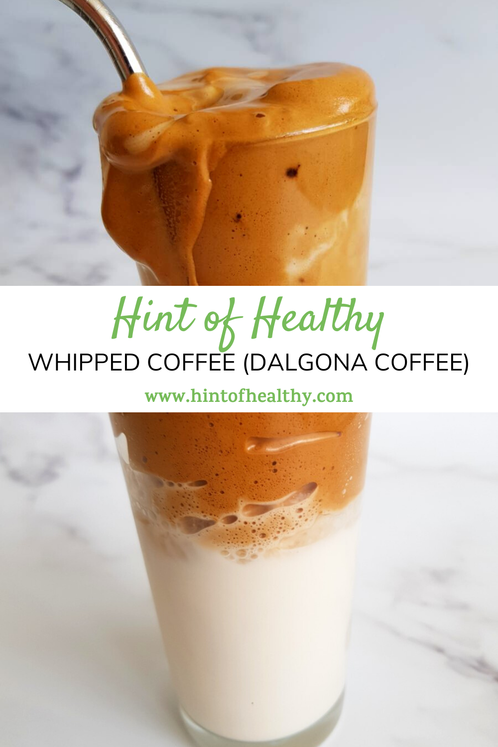 Iced Whipped Coffee (Dalgona Coffee) with Almond Milk ...