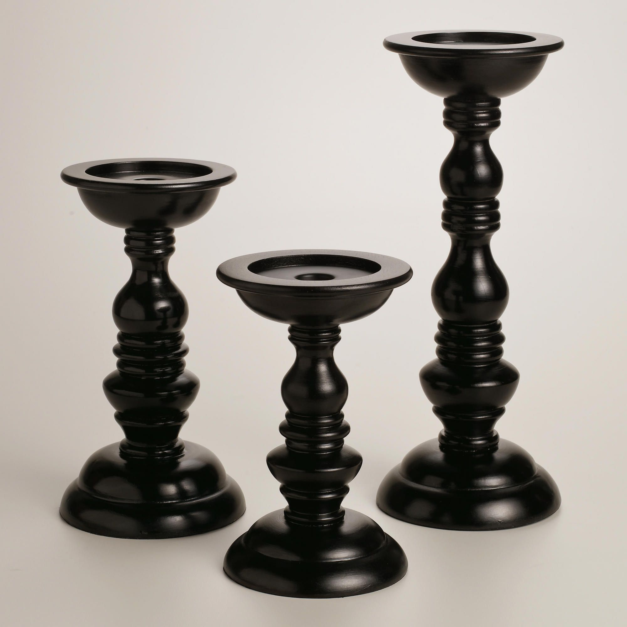 Harrison Black Pillar Candle Holders World Market From Cost Plus Saved To Epic Wishlist Cute Imobsessedwithblack Inlove