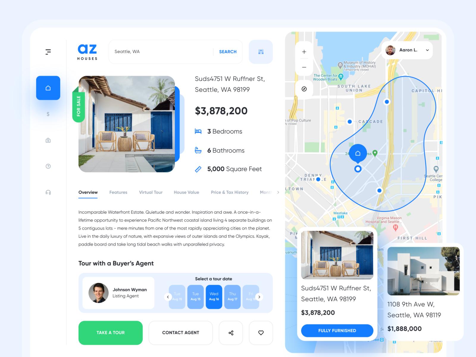 Az Houses Web App Design By Harshil Acharya For Uigate On Dribbble In 2020 Web Design Inspiration Web Design Web App Design