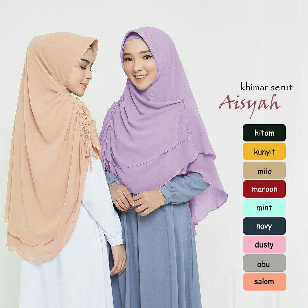 Pin By Elok Elok On Khijab Khimar Hijab Designs Khimar Syar I Khimar Style