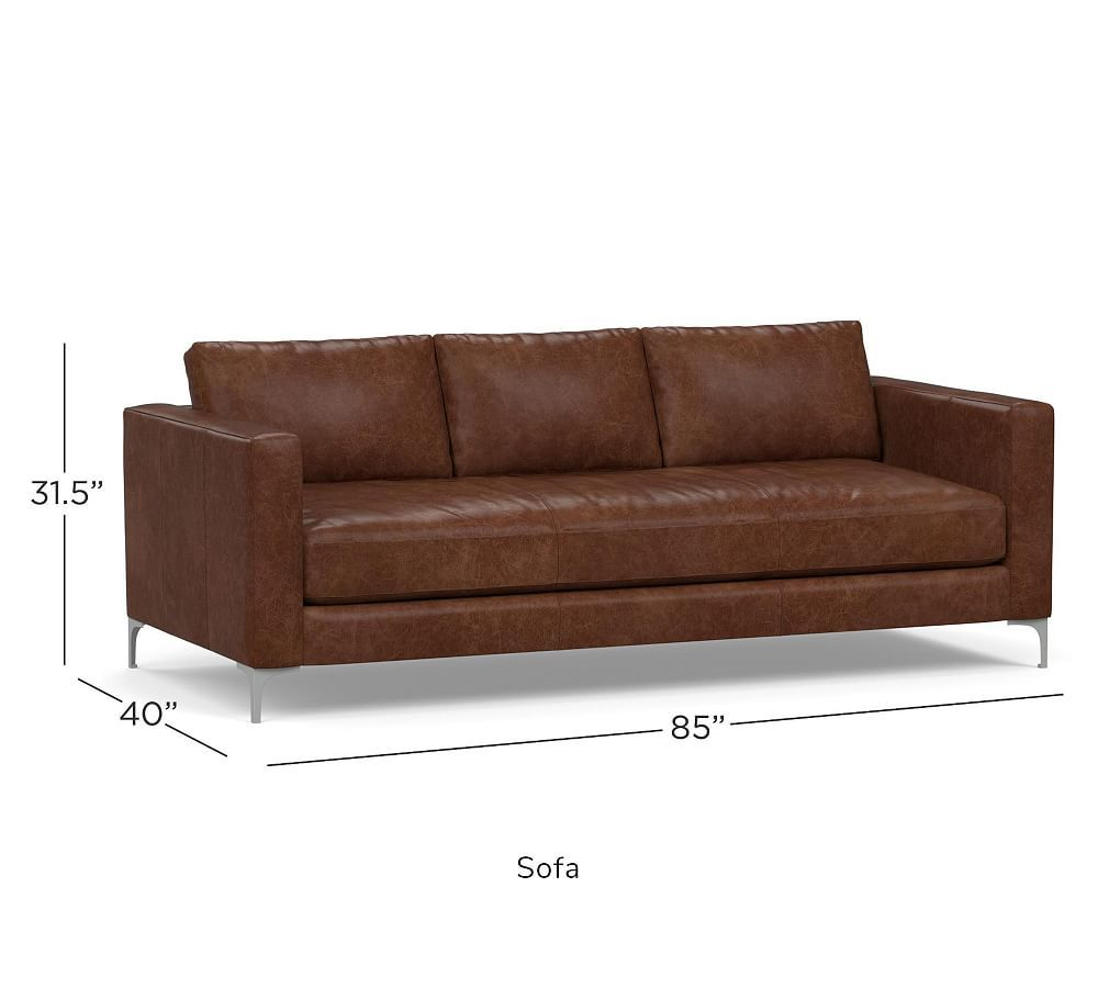 Jake Leather Sofa Pottery Barn In 2020 Sofa Leather Sofa Master Bedrooms Decor
