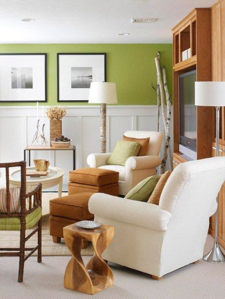 Benjamin Moore Split Pea Green Is A Green With A Warm Yellow Undertone And Is A Good Paint Colour For A North Facing Room Home Home Decor Home Living Room