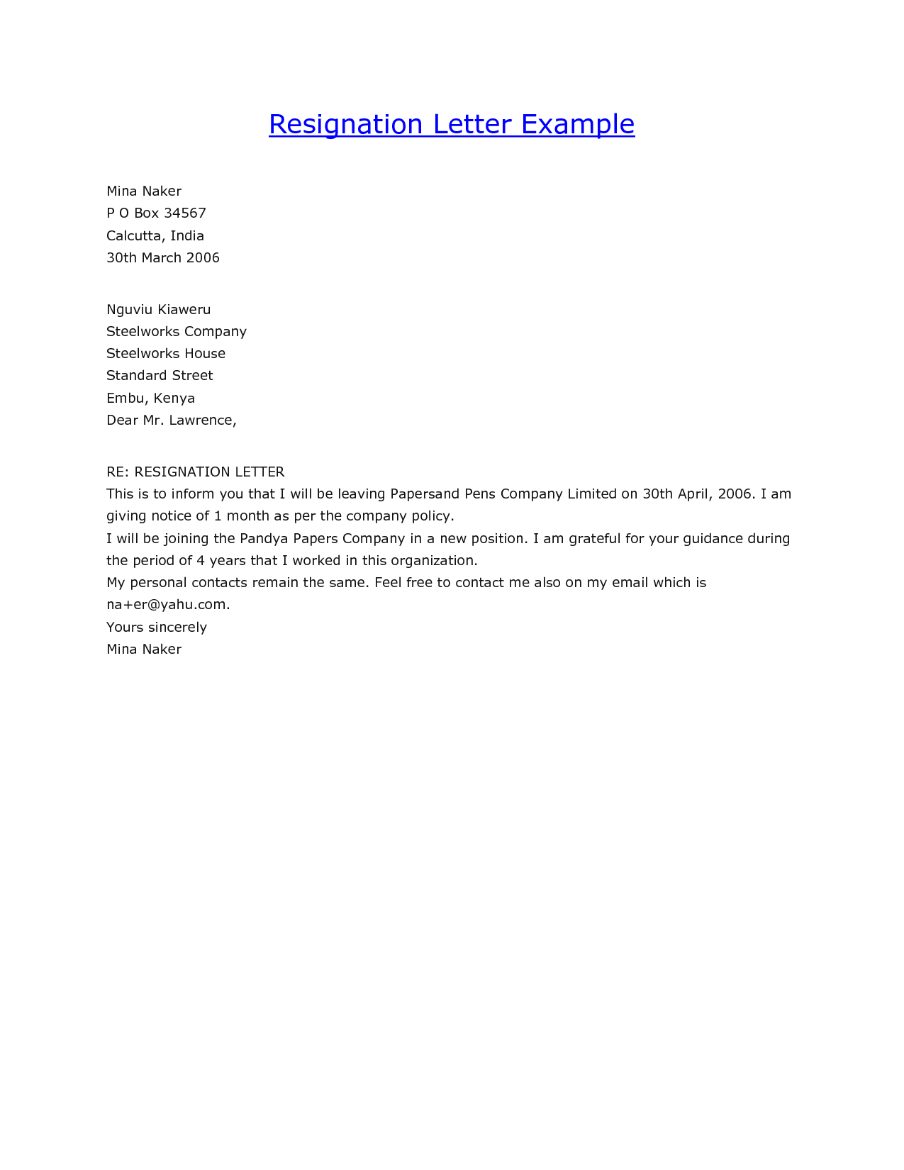 Stunning Resignation Letter Sample Format Example Ideas Office Through Email  Samples Job Cover Letters  Cover Letter Email