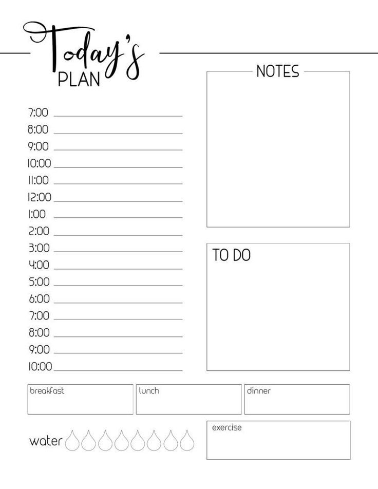 Free Printable Daily Planner Template Free