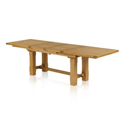 Rhodes Large Extendable Dining Table Oak Furnitureland Solid Oak Dining Table Extendable Dining Table Dining Table