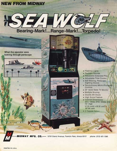 The arcade video game Sea Wolf by Midway