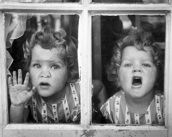 Two Little Twin Girls  by Thurston Hopkins