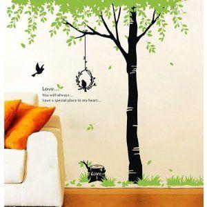 Wandtattoo Schlafzimmer Baum | Fuloon Wandtattoo Baum Wandaufkleber Sticker Wandtattoo