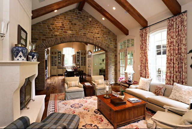 charming french country modern living room | country french farmhouse | Modern McMansion with French ...