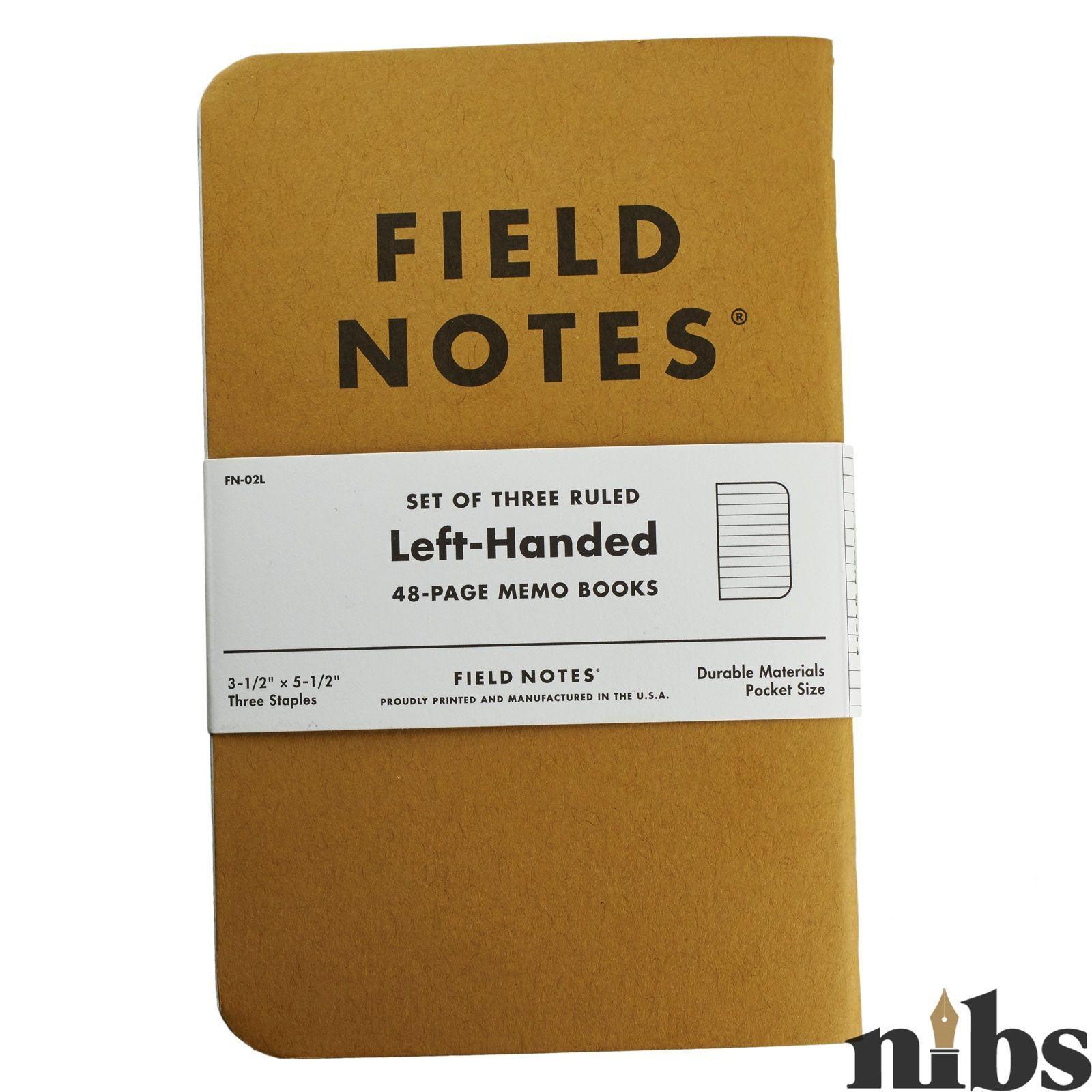 Field Notes Left-Handed Ruled Memo Books (3-Pack)