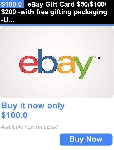 Gift Cards Ebay Gift Card 50 100 200 With Free Gifting Packaging Us Mail Delivery Buy It Now Only 100 0 Ebay Gift Gift Card Free Gift Cards