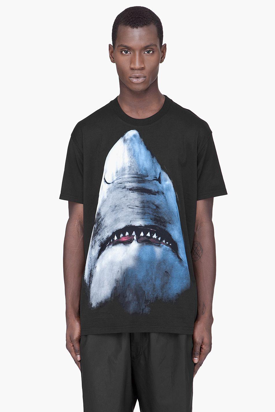 GIVENCHY Black Shark Print Oversized T-Shirt | S.T.Y.L.E ...