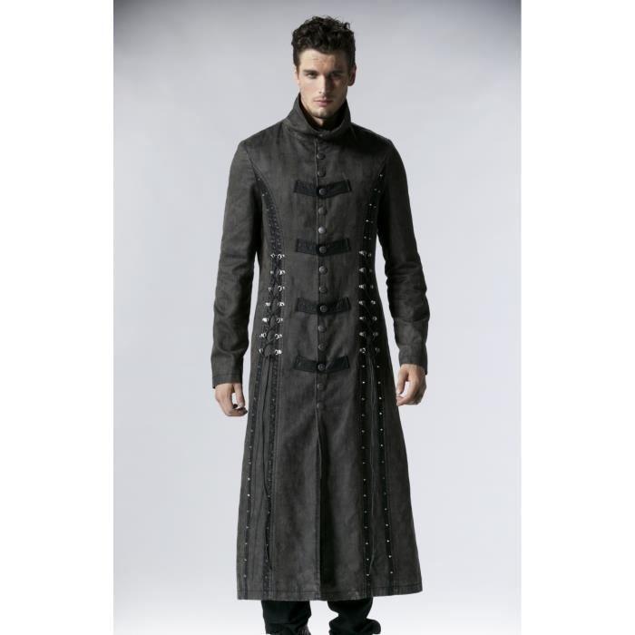 Manteau long gothique homme pas cher