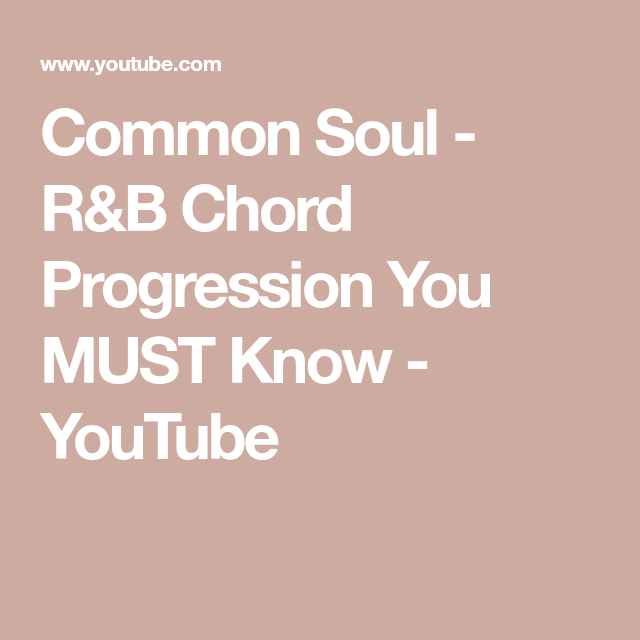 R&B Chord Progression You MUST Know