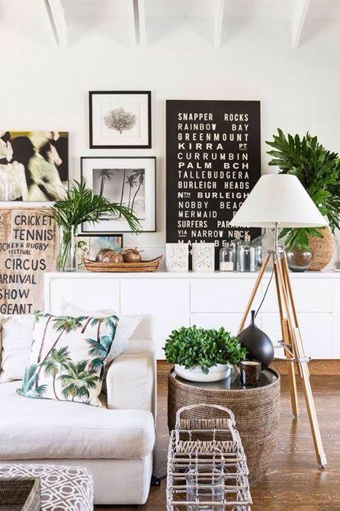 Tropical Summer Idea Living Room Home Decor Inspiration Decor