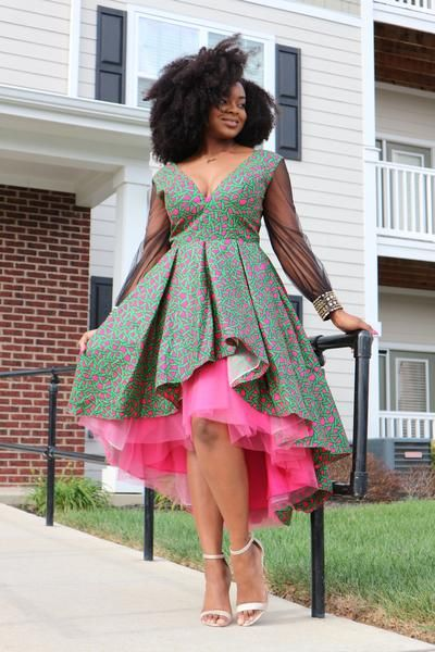 African Print Studded Gown In 2020 African Dress