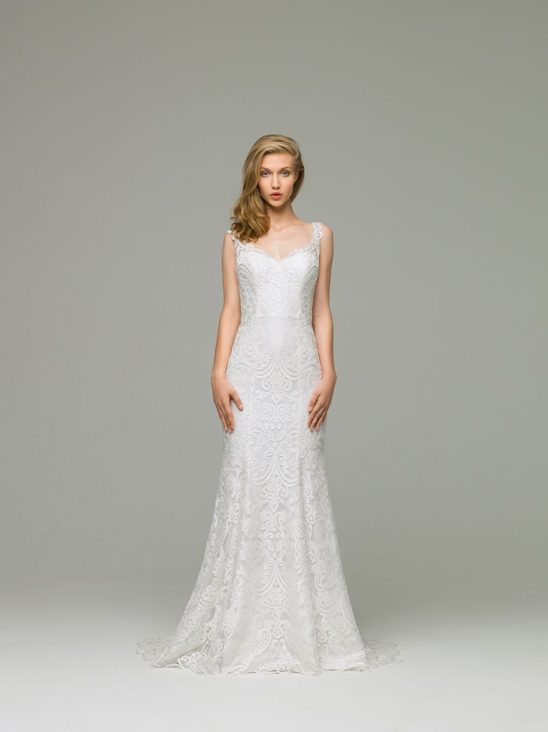 Miryam Wedding Dress This Elegant Gown Features An All Over Delicate Floral Lace Pattern A Mermaid Silhouette And Spaghetti Straps Makes: Pattern Wedding Dress Shapes At Websimilar.org
