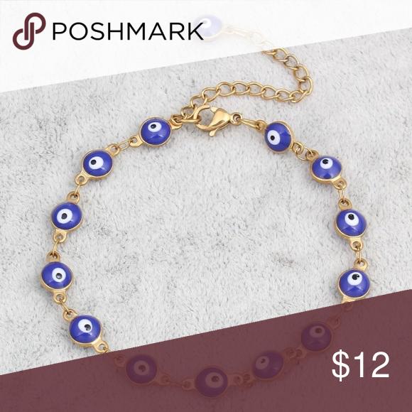 turkish evil eye gold plated bracelet women