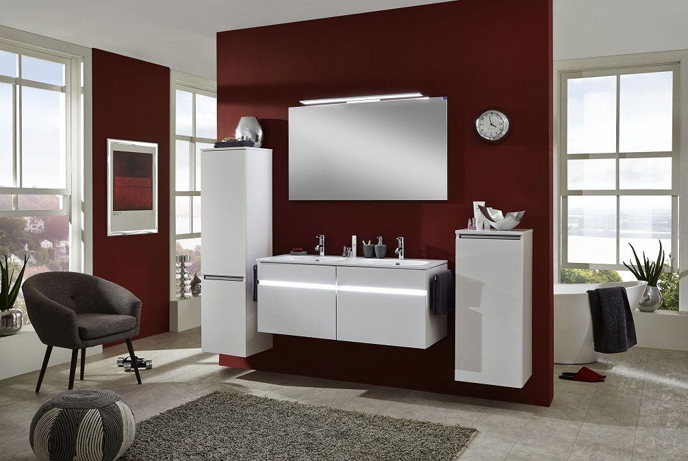 Fantastisch Modernes Bad In Seidenglanz Weiß #Bad #Badezimmer #Design #Modern #Weiß #