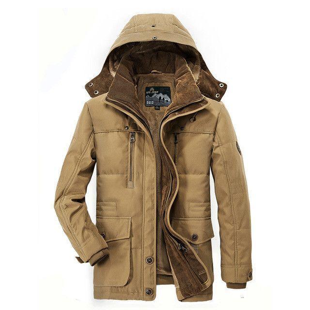 d3739514d AFS JEEP Brand Winter Jacket Men Warm Thicken Coat High Quality ...