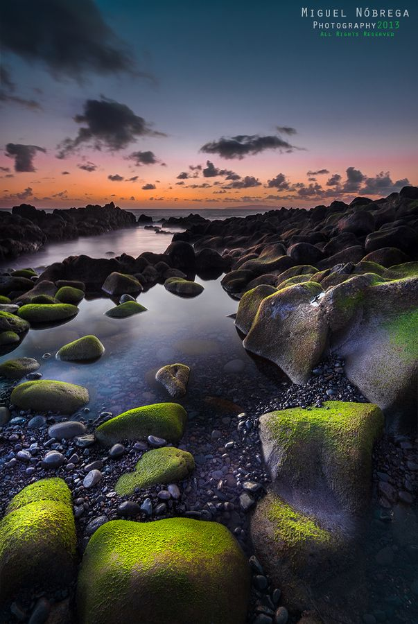 Green Rocks II....... Just some moments before sunrise at Reis Magos Beach, Madeira Island.