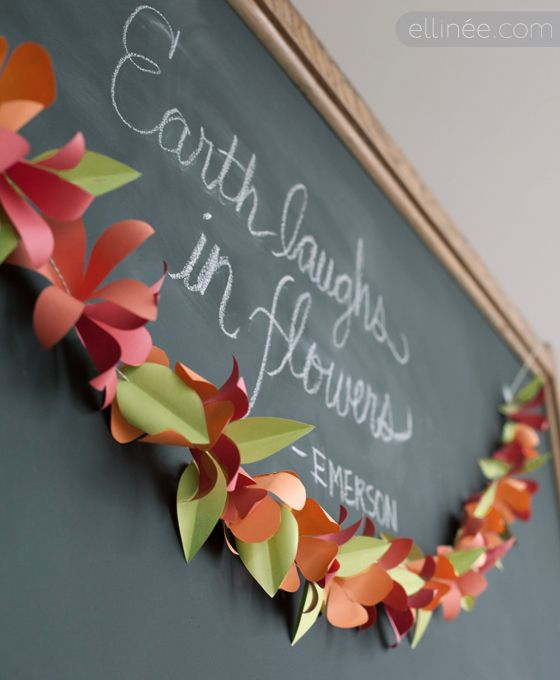 DIY Paper flower garland templates and tutorial | Fabulous Freebies ...