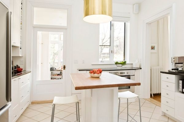 Simple Kitchen With Island simple kitchen island with seating in white contemporary kitchen